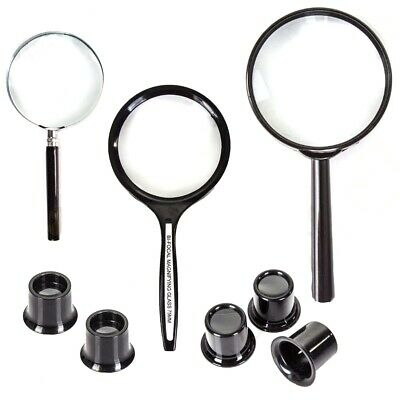 CHOOSE STRONG HANDHELD MAGNIFYING GLASS & LOUPES Small Print Map Reading Aid