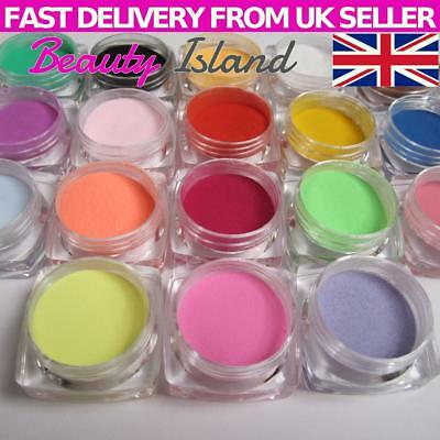 18 Colours Acrylic UV Gel Glitter Dust Powder Set for Nail Art Tip Decoration UK