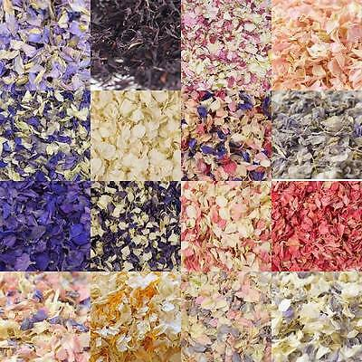 Biodegradable Real Dried Delphinium Petals - Pure Natural Confetti for Weddings