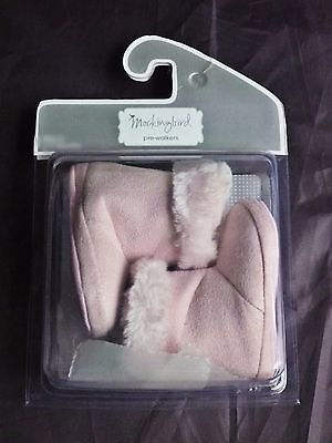 NEW Target Mockingbird Pre-Walker Baby Toddler PINK Boots Shoes 12+ Months Sz 4