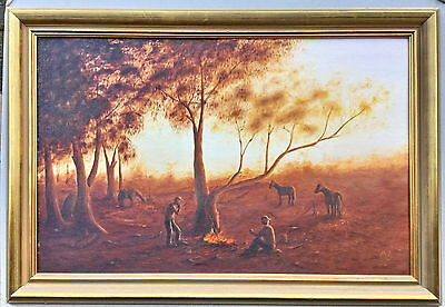 "Malcom Bottril  ""Its been A Good Day"" Oil Framed Painting"