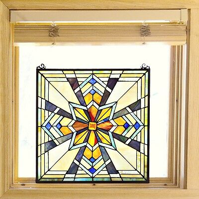 Stained Glass Panel for Window Tiffany Style Suncatcher Mission Southwest Star