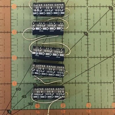 Axial Electrolytic Capacitor 1000uF 35v 13X30 5pcs Free Shipping
