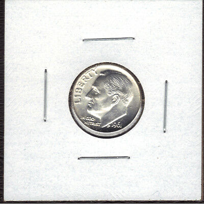 1961-D 90% Silver Uncirculated Roosevelt Dime.