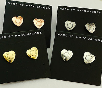 NEW Hot Marc by Marc Jacobs 4Colors Earrings Love Heart Logo Letters Stud