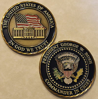 President of the Unites States Challenge Coin George W. Bush Number. 43
