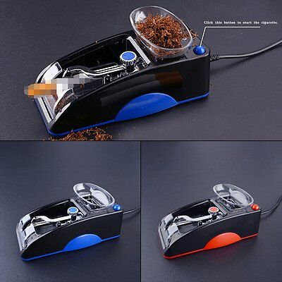 Useful Electric Automatic Cigarette Rolling Machine Tobacco Injector Make Roller