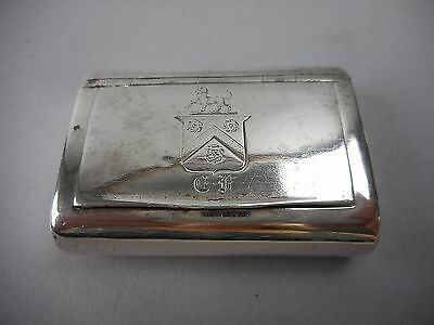 Sterling Snuff Box by Thomas Phipps, Edward Robinson & James Phipps London 1812