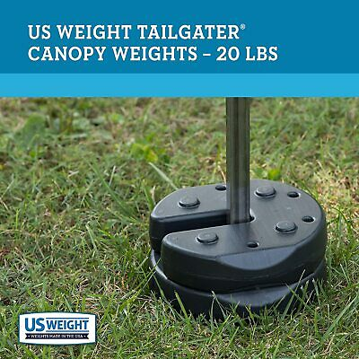 NEW! Quik Shade Canopy Weight Plates Sand Bag Camping 7.6 in (Set of 4) FASTSHIP