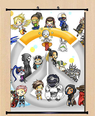 Game Overwatch Figure HD Printing Home Decor Japanese Wall poster Scroll