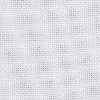 White 100x110cm 14 Count Aida Fabric Cotton Cross Stitch Craft NEW