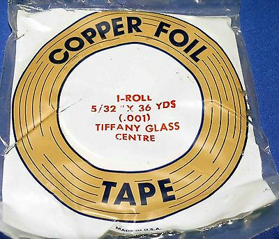 """Edco Stained Glass Supplies - COPPER FOIL 5/32"""" 36 Yard (.001)"""