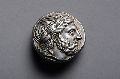 Ancient Greek Silver Tetradrachm Coin of King Philip II of Macedon - 323 BC