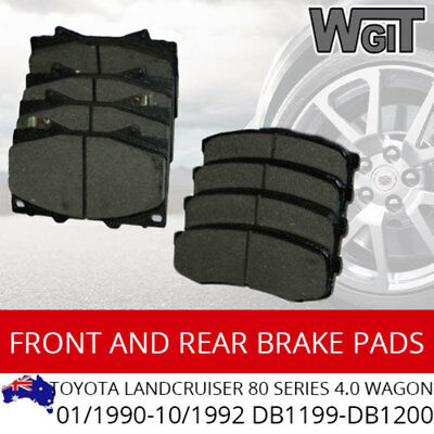 Front Rear Brake Pads For Toyota Landcruiser 80 Series 4.0 01/1990-10/1992