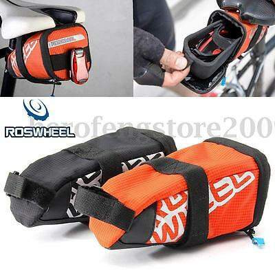 0.5L ROSWHEEL Bike Bicycle Saddle Bag Back Seat Tail Pouch Cycling Seatpost Bag