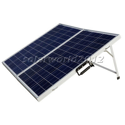 120Watt Portable Folding Poly Solar Panel Kit W/ Controller for RV Boat Camper