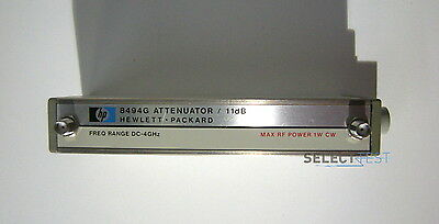 AGILENT / HP 8494G PROGRAMMABLE STEP ATTENUATOR, 4 GHz, 0 - 11 dB (REF: 517)