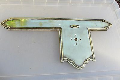 Victorian Brass Finger Plate Push Door Handle Gothic Antique WT&S Vintage Old