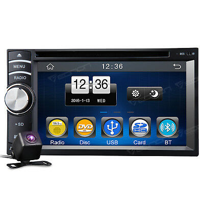 "Camera Double 2 Din 6.2"" HD Car Stereo CD DVD Player BT MP3 Touch M USB RDS SD"