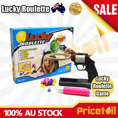 Lucky Balloon Party Roulette Gun Pistol Bang Prarty Game Fun Tricky Creative Toy