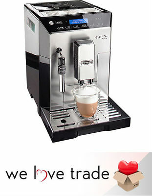 De'Longhi Eletta Plus Bean-to-Cup Coffee Machine - Silver/Black - Free Shipping