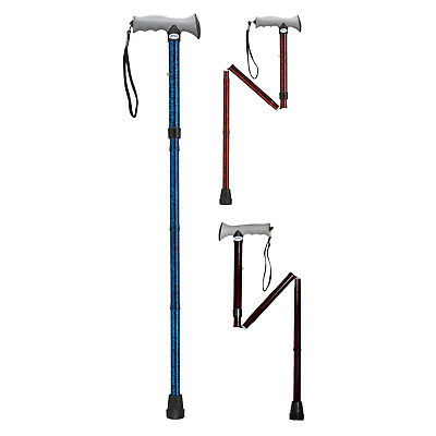Drive Medical Folding Walking Stick with Gel Grip (Choose Your Colour)