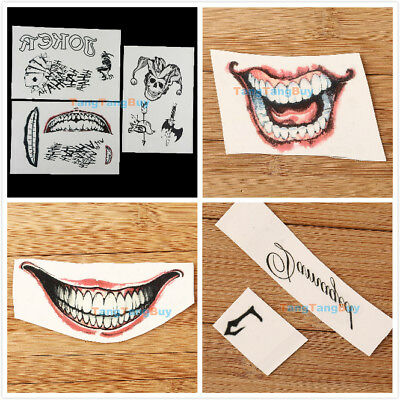 Joker Temporary Tattoos Lot Suicide Squad Party Harley Quinn Costume Fancy Dress