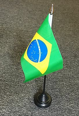 Brazilian Table / Hand Flag. Brazil Sao Paolo Brazilia Brasil Sports Football