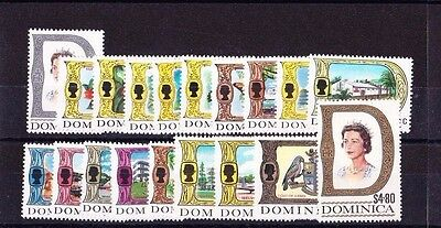 Dominica 1969 Complete Set Sg 272-290 Mnh.