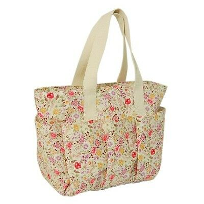 Wild Meadow Floral Flowers Sewing Caddy Bag Craft Hobby