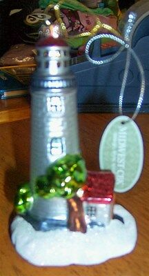 Christmas Lighthouse Ornament Glassworks Collection Midwest New