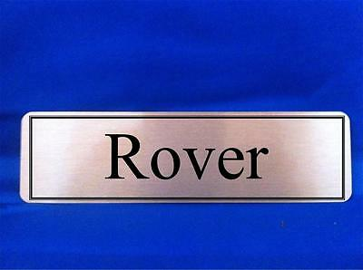 Personalised Dog Kennel Door Name Plaque Sign Gold or Silver (any wording)