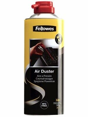 1 x Fellowes Air Duster 350ml for Notebook Laptop PC Keyboard Cleaner 9974905