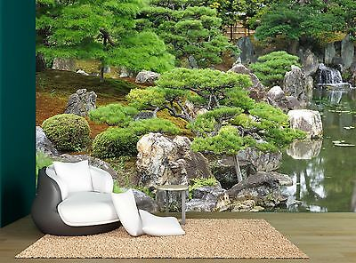 Japanese Nature Garden Trees Water Wall Mural Photo Wallpaper GIANT WALL DECOR