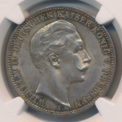 MAKE AN OFFER -- Germany 3 Marks 1912A Prussia - NGC MS 63