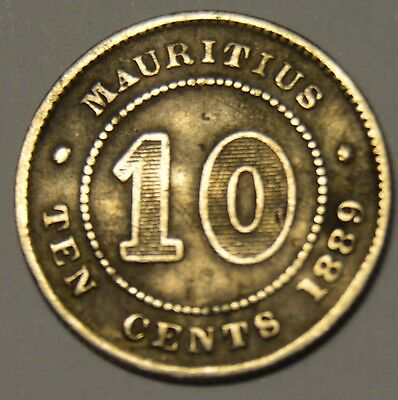 Mauritius Silver 1889 10 Cents