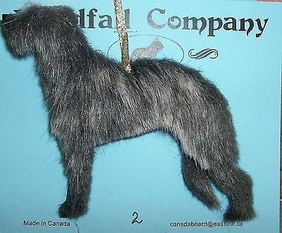 Scottish Deerhound Dog Plush Christmas Canine Ornament # 2 by WC