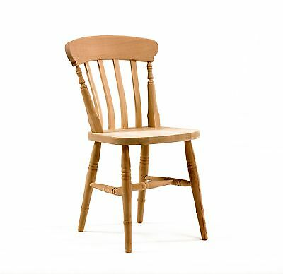 Solid Beech Oak Pine Farmhouse Kitchen Chair New Dining Chair Bare Wood