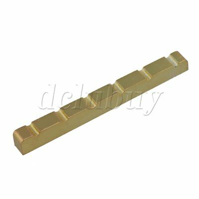 Stainless Steel 6 String Gold Guitar Nut Replacement for Electric Guitar