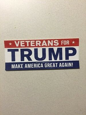 Veterans For Trump Sticker Make America Great Again! Usa $