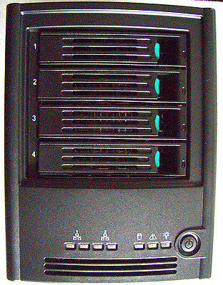 Intel SS4000E NAS Entry Storage System With 4x Hot-Swappable Drive Carriers