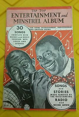 1936 Music Songbook - Tip Top Entertainment and Minstrel Album Black History