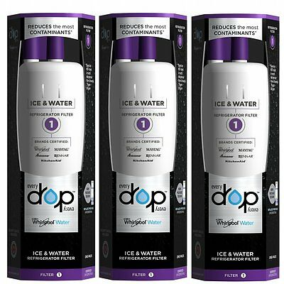 Maytag Every Drop EDR1RXD1 W10295370A W10295370 Whirlpool Water Filter 3 Pack