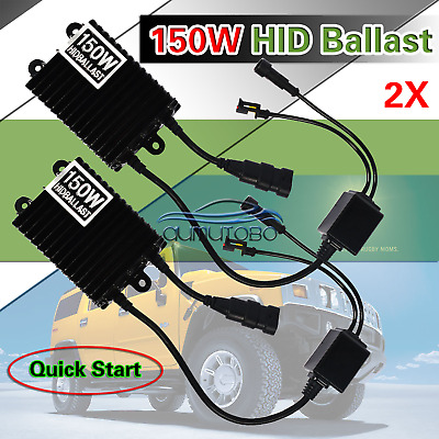 2x Fast Start Digital 12V 100W HID Replacement Ballast for Xenon Kit All Bulbs
