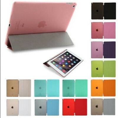 LOT Smart Cover Stand Hard Back Case for Apple iPad 4 3 2/iPad mini/iPad Air/Pro