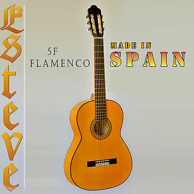 Esteve 5F Flamenco Guitar Solid Top. Made In Spain. Percussive Sound