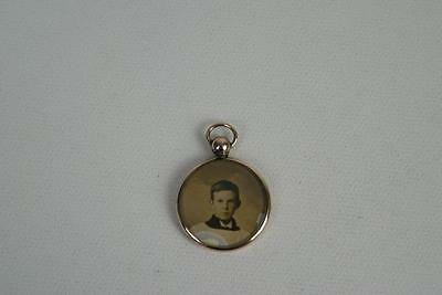 (ref165BCviii) Edwardian Rolled Gold Double Picture Pendant
