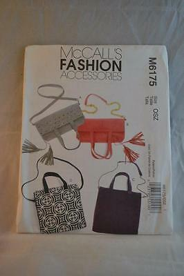 MCCALL'S M6175 Bag Pattern Uncut As New Condition FREEPOST IN AUSTRALIA