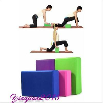1PC Yoga Block Foam Brick Stretching Aid Gym Pilates For Exercise Fitness J