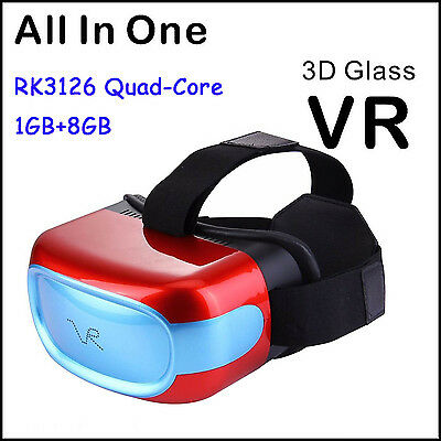 3D VR All in one Movie Video Game Virtual Reality Glasses Box Quad-Core 1GB+8GB